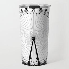 London Wheel Silhouette Travel Mug