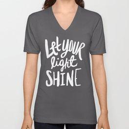 Let Your Light Shine II Unisex V-Neck