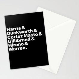 nasty women: senators (w) Stationery Cards
