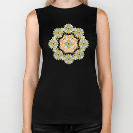 Starflower Mandala Blossoms Biker Tank