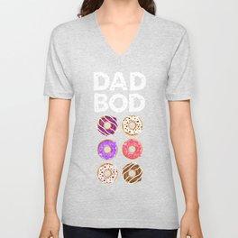 Daddy donut Dad bod Unisex V-Neck