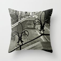 Fleur-de-Lis Railing Throw Pillow