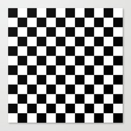 Checkered (Black & White Pattern) Canvas Print