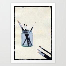 Blank Canvas   Black Art Print