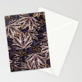 Emerging Crimson Sentry Norway Maple Leaves Stationery Cards