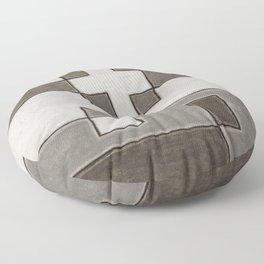 Protoglifo 10 Greyish approaching Floor Pillow