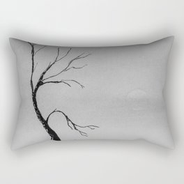 Mist covered fields Rectangular Pillow