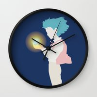 howl Wall Clocks featuring Howl by Polvo