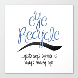 Eye Recycle Canvas Print