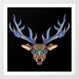 Deer Park- MI on Black Art Print