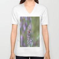 ladybug V-neck T-shirts featuring Ladybug by Stecker Photographie