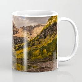 Beginning of Fall at Maroon Bells Coffee Mug