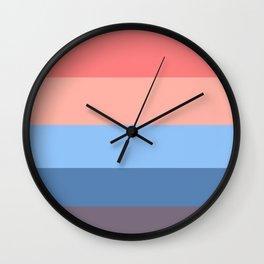 Powdery Sunset Geometric Pattern Wall Clock