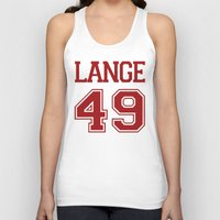 jessica lange Tank Tops featuring Jessica Lange Varsity by NameGame