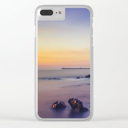 Sunset by the Sea Clear iPhone Case