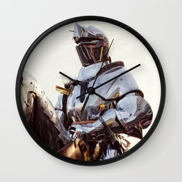 Knight In Shining Armour Wall Clock