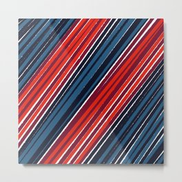 Abstract colorized stripes Metal Print