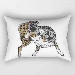 Dog Lover (Spotted Australian Shepherd) Rectangular Pillow