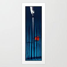 47 Ronin Blue Art Print