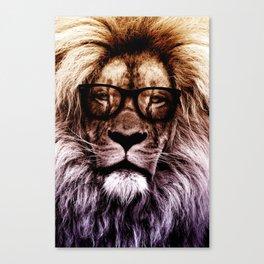 Lion Hipster art Canvas Print