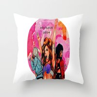 artrave Throw Pillows featuring ARTRAVE by JessicART