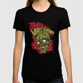 A Unique Detailed Zombie Tee For Yourself? Here's An Awesome T-shirt Saying Zombie Marijuana Design T-shirt