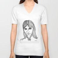 sassy V-neck T-shirts featuring sassy  by starudijia