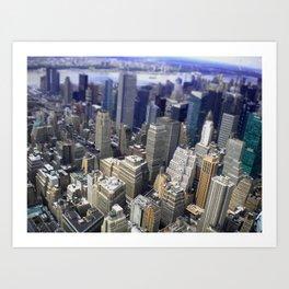 Mahnattan view (NY) Art Print