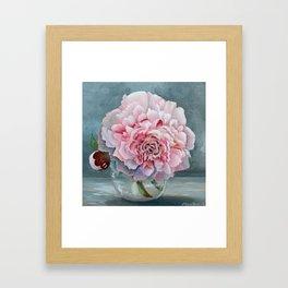 Peony Memories Flower Painting Framed Art Print