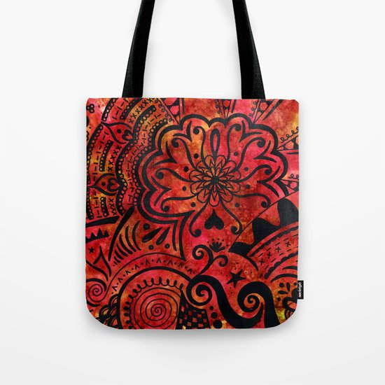 This doodle's on fire Tote Bag