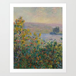 Monet, Flower Beds at Vétheuil, 1881 Art Print