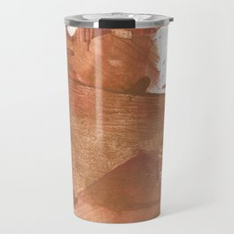 Brown abstract Travel Mug