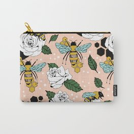 Bees on the flowers Carry-All Pouch