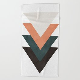 Abstract Triangles Beach Towel