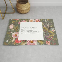 Why can't I try on different lives - S. Plath Collection Rug