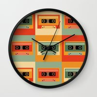 cassette Wall Clocks featuring cassette by vitamin