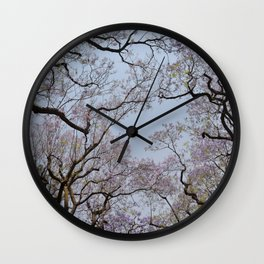 Jacarandas 01 Wall Clock