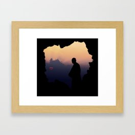 Contemplation - Spiritual jorney of a Monk T-Shirt Framed Art Print