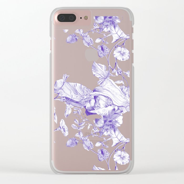 Jeweled Botanist Clear iPhone Case