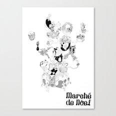 Marche White - color yourself. Canvas Print