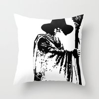 lacrosse Throw Pillows featuring The lacrosse wizard by laxwear
