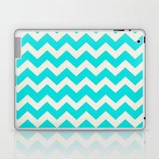 Crazy for Chevron - Aqua Laptop & iPad Skin