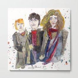 Hermione, Harry, & Ron Metal Print