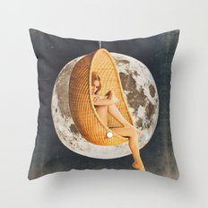 On the Moon Throw Pillow