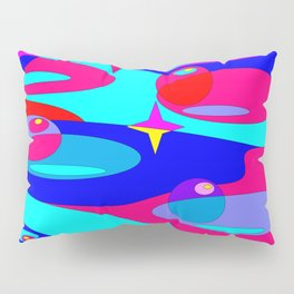 Planets and Stars in Jewel Tones Pillow Sham