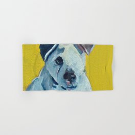 Beautiful Dolly the White Dog Hand & Bath Towel