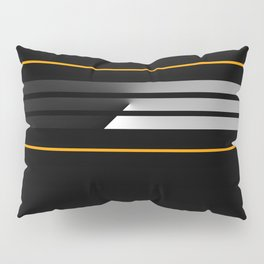 Team Color 5....orange, black Pillow Sham