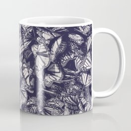 Indigo butterfly photograph duo tone blue and cream Coffee Mug