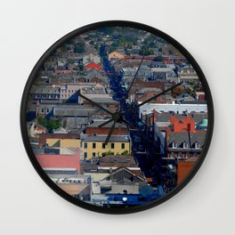 Vieux Carre Cityscape Wall Clock