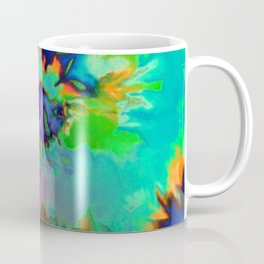 Inhale: A pretty minimal piece with bits of pinks, blues, greens, and yellows to your hearts content Coffee Mug